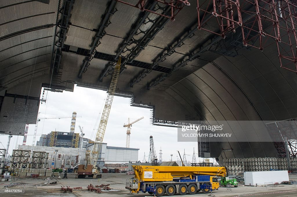 Construction is underway on the Chernobyl New Safe