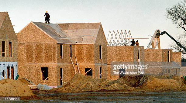 FILE Construction is well underway for the nice new homes that will replace the shacks in Bayview Virginia on December 12 2002 These homes are just...