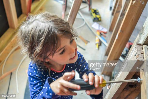 construction kid - lisa strain stock pictures, royalty-free photos & images