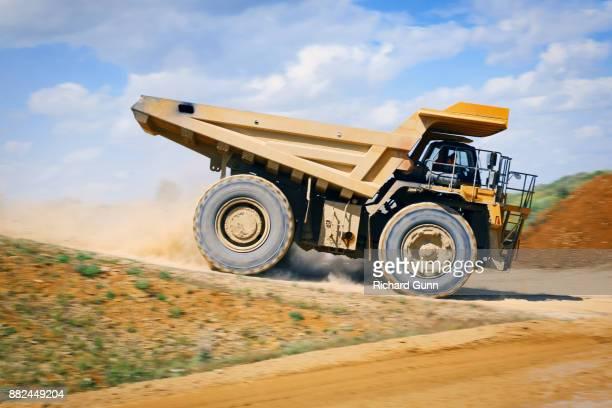 Construction - Komatsu HD785 off-road heavy truck at work