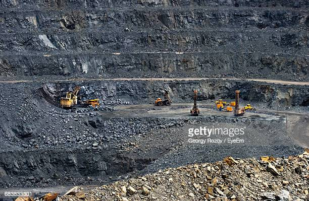 Construction Machineries At Iron Ore Mine