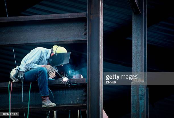 construction man frame work of high rise building - trade union stock pictures, royalty-free photos & images