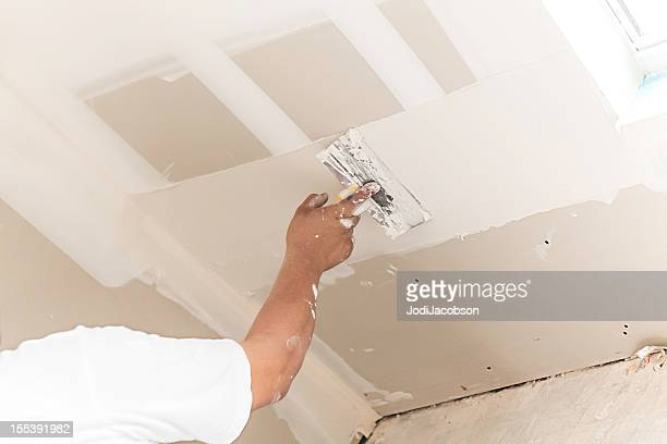 Konstruktion: Mann, die Installation plasterboard