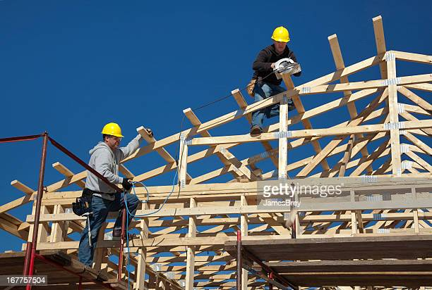 Construction Men Framing New Building