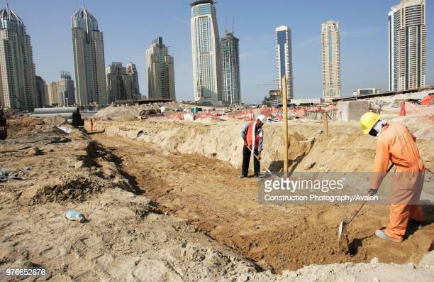Construction of 5th interchange on Sheikh Zayed Road Dubai United Arab Emirates January 2007