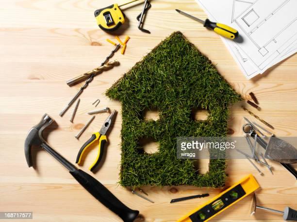 Construction of a Green Grass House