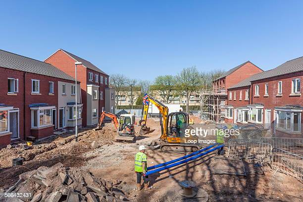 Construction of a new housing estate in Birmingham