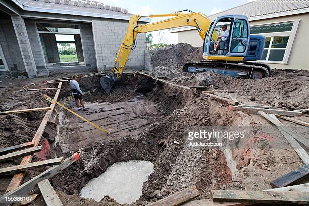 construction of a new swimming pool