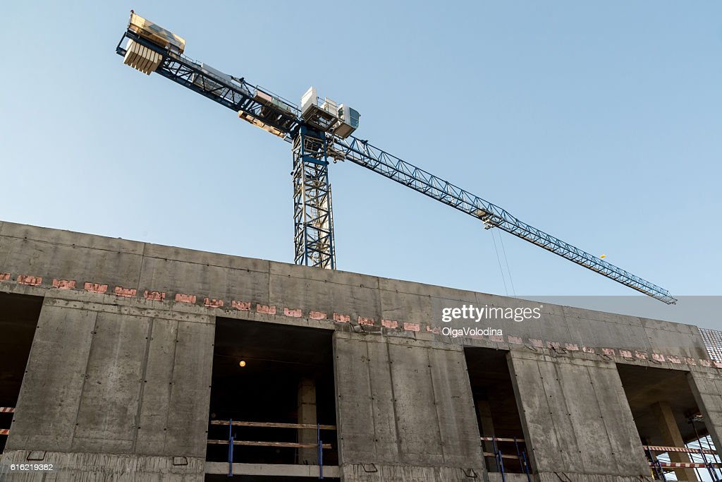 Construction of a residential house panel : Stock Photo