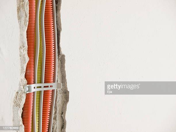 construction of electrical instalations - canal stock pictures, royalty-free photos & images