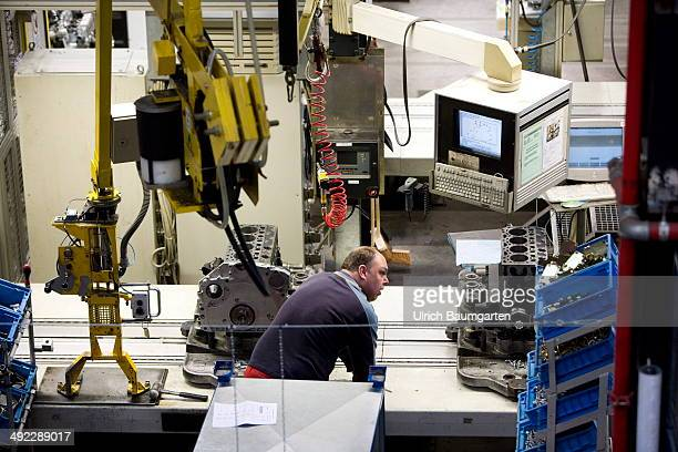 Construction of engines for Bio fuel and fuel in the Deutz AG in Cologne on May 15 2014 in Cologne Germany