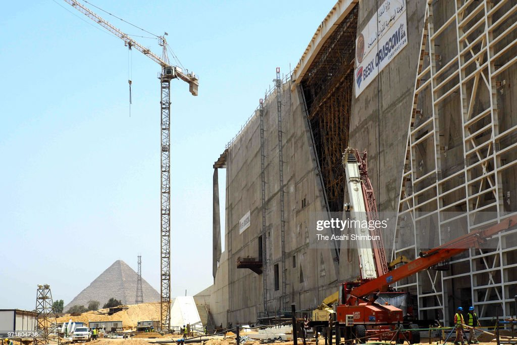 Construction Of Grand Egyptian Museum Continues : News Photo