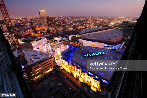 Construction of LA Live in Downtown Los Angeles California USA