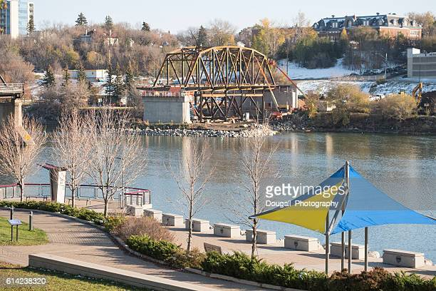 Construction of New Bridge in Saskatoon