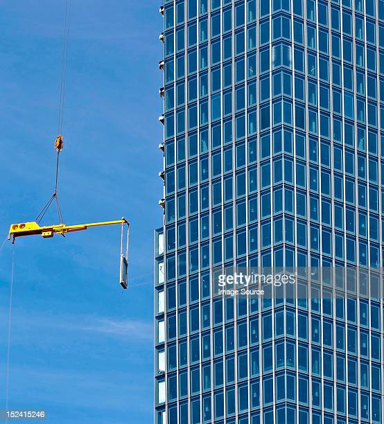 construction of new european monetary bank, frankfurt, hesse, germany - seat of the european central bank stock photos and pictures