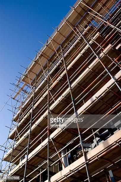 Bau der Wolkenkratzer
