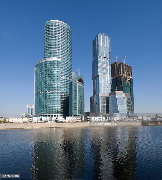 Construction de gratte-ciels dans le centre-ville.
