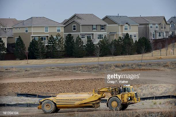 Construction of the Arapahoe County Water and Wastewater Authority's $16 million Chambers Reservoir in Douglas County CO Tuesday March 08 2011