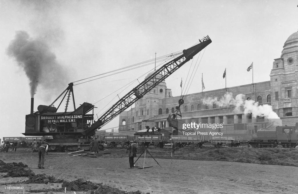 Building The British Empire Exhibition : News Photo