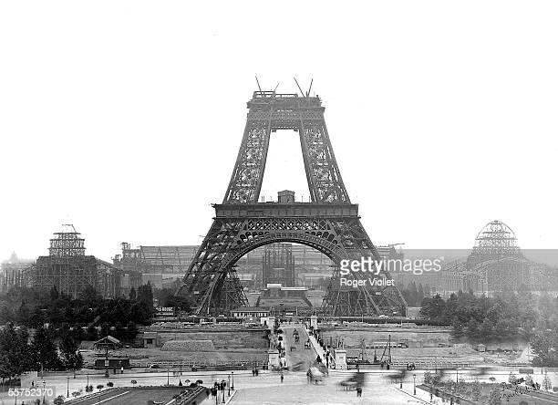 Construction of the Eiffel Tower Paris July 1888 Photograph Henri Roger