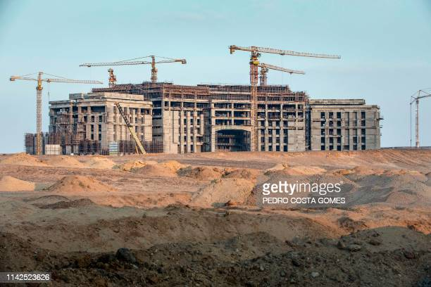 Construction of the future parliament building in the new administrative capital some 50 km east of the capital Cairo on March 7 2019