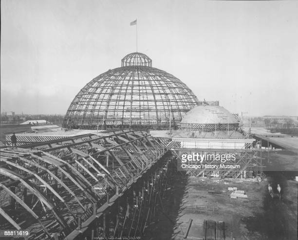 Construction of the Horticulture building for the Chicago World's Columbian Exposition or Chicago World's Fair Chicago IL 1892