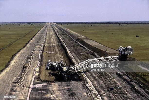 Construction of the Jonglei Canal in Sudan on February 24th1983