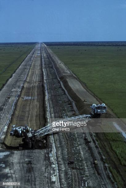 Construction of the Jonglei canal on February 24 1983 in Sudan