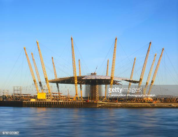 Construction of the Millennium Dome, Greenwich, London, UK.