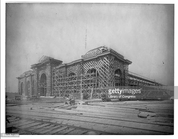 Construction of the Mines and Mining Building for the 1893 Chicago World's Fair