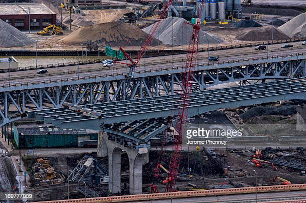 CONTENT] Construction of the new Innerbelt Bridge on I90 in Cleveland Ohio