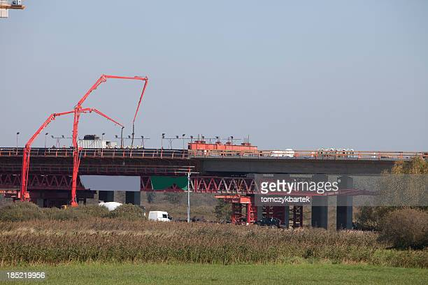 construction of the road and bridges - elevator bridge stockfoto's en -beelden