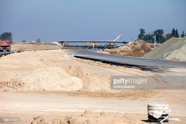 construction of the road and bridges
