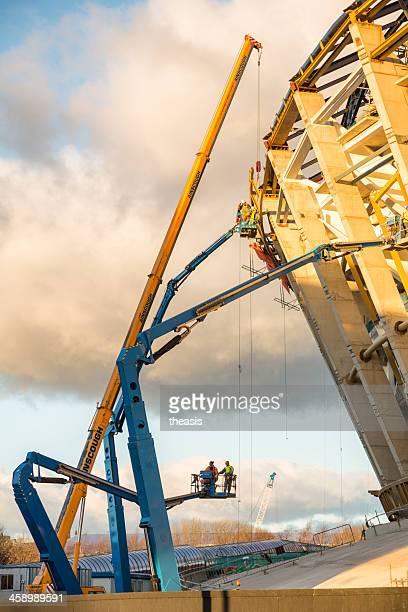 bau des scottish hydro-arena, glasgow - theasis stock-fotos und bilder
