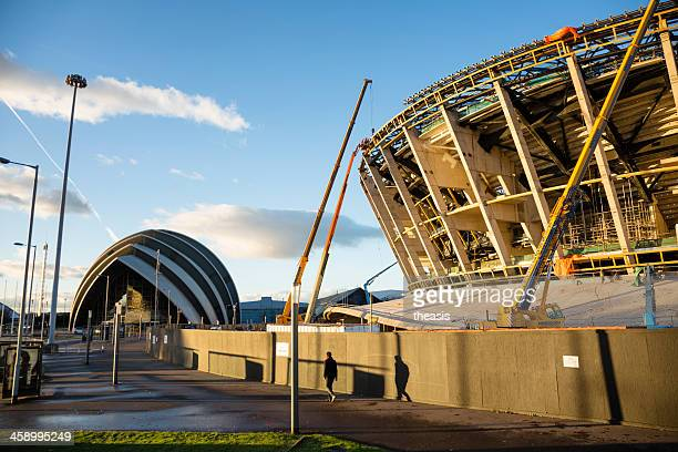 Construction of the Scottish Hydro Arena, Glasgow