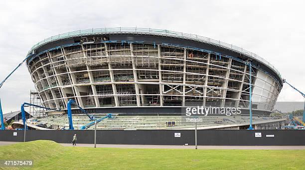costruzione della scozia, glasgow, alla hydro arena - theasis foto e immagini stock