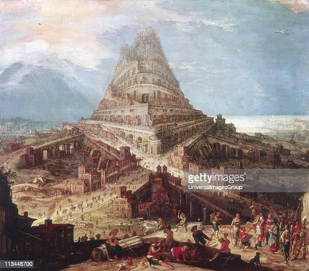 Construction of the Tower of Babel' Hendrick van Cleve Flemish artist