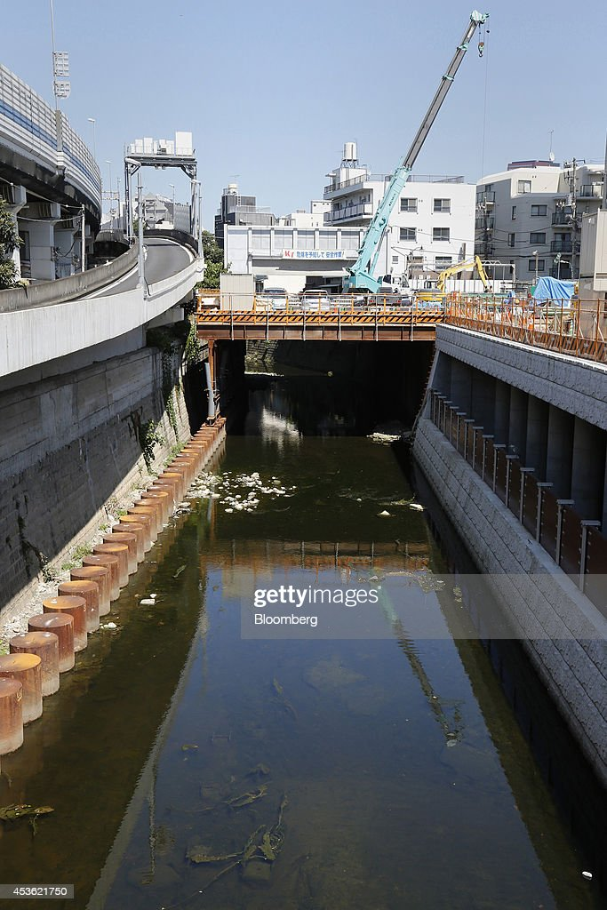 Construction Of The Furukawa Reservoir As Tokyo Takes Flood Control Underground : News Photo