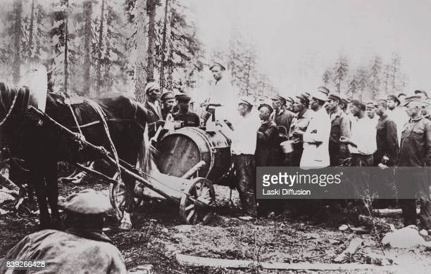 Construction of the White Sea-Baltic Canal have lunch. The canal was constructed between 1931 and 1933 by forced labor of Gulag inmates. According to...