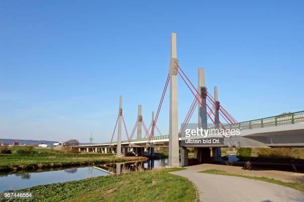 BAB 30 Construction of Werre bridge Nordumfahrung Bad Oeynhausen The new bridge is part of the planned motorway junction 'Kreuz Löhne'