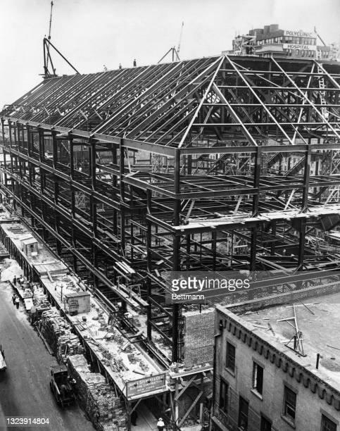 Construction on Madison Square Garden.
