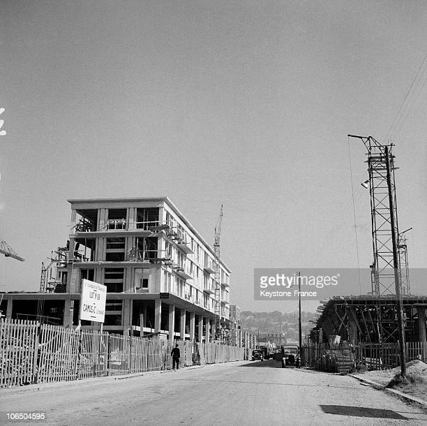 Construction On Plot No 99 On November 15Th 1953 At Le Havre Town Center That Was Ravaged By English Bombing In 1944 Leaving 80000 People Homeless...