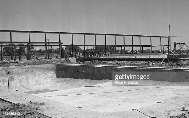 AUG 4 1955 AUG 7 1955 Construction on the club house at the new Columbine Country Club southwest of Denver and the swimming pool blossomed forth this...