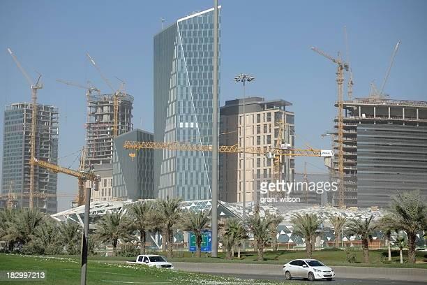 Construction on the King Abdullah Financial District in the heard of Riyadh, the Capital of Saudi Arabia.