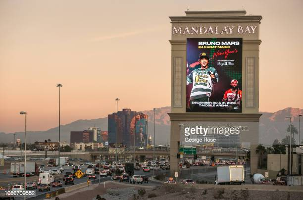 Construction on the Las Vegas NFL stadium and future home of the Oakland Raiders is viewed on December 19 2018 in Las Vegas Nevada Located on 62...