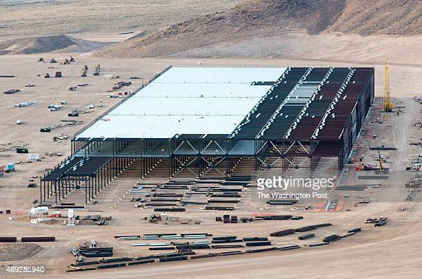 Construction on the Tesla Motors Gigafactory east of Reno Nev March 25 2015