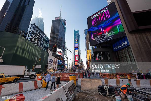 Construction on Times Square