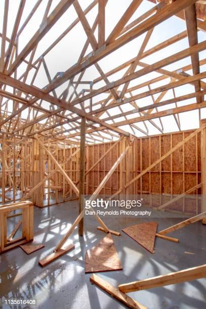 construction - advertising column stock-fotos und bilder