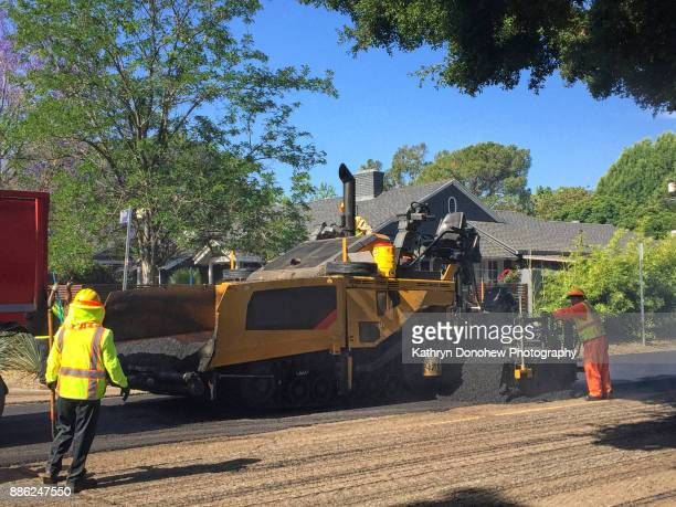 construction - asphalt paving stock photos and pictures