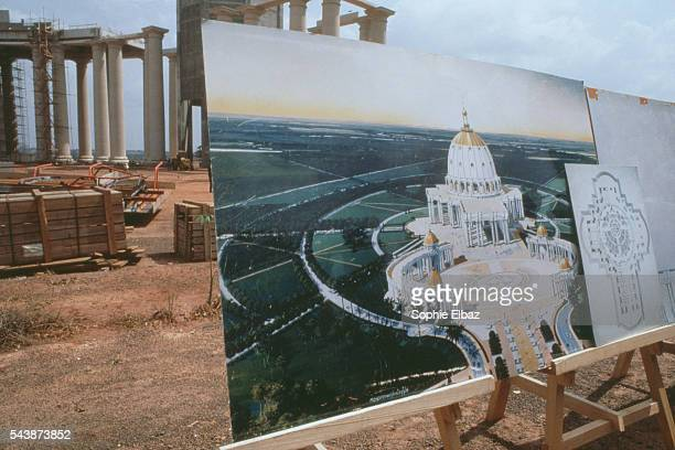 Construction plans of the final project for the African Basilica Notre Dame de la Paix in Yamoussoukro